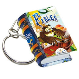 fables keychain miniature book