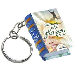 learning happy keychain miniature book