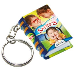 sayings keychain miniature book