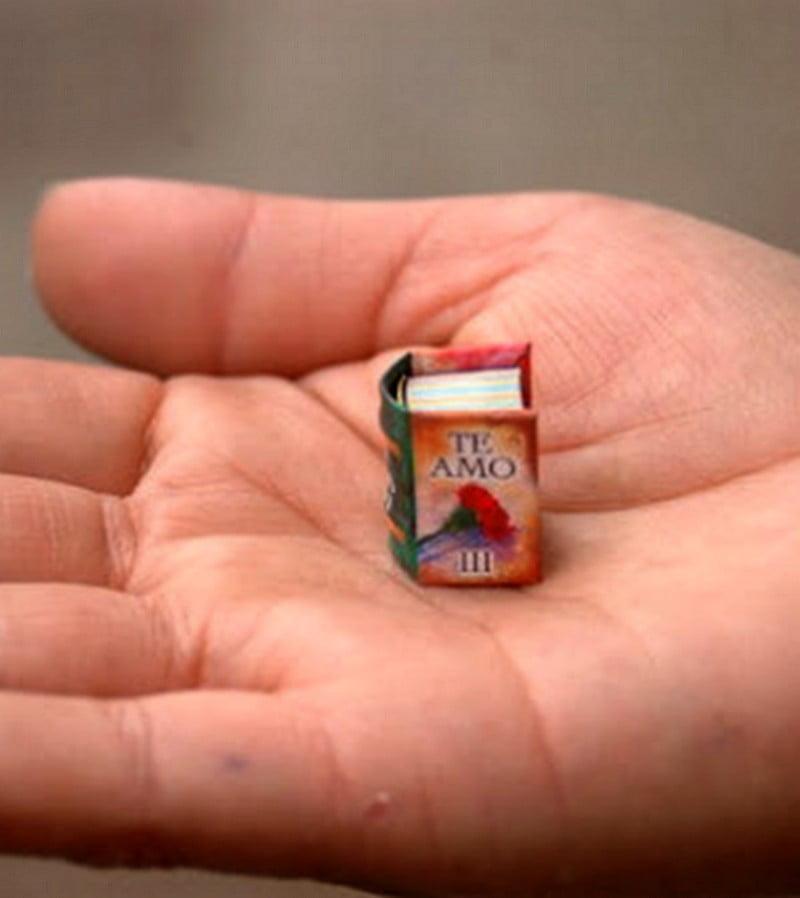 Miniature Book Te Amo Hand